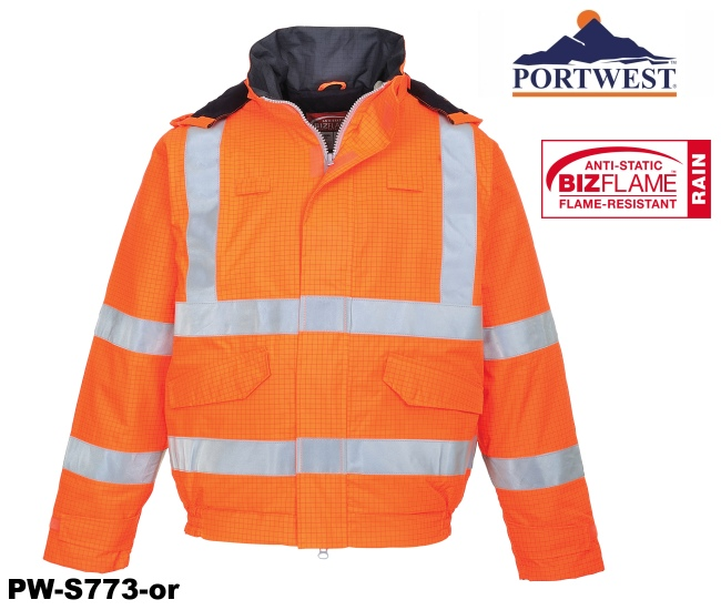 Warnschutz Bomberjacke Multinorm orange 1